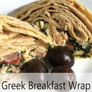 Greek Breakfast Wrap – Freezer Friendly