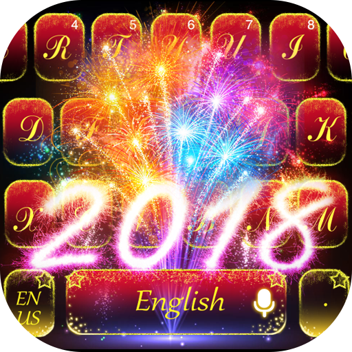 Happy New Year 2018 keyboard