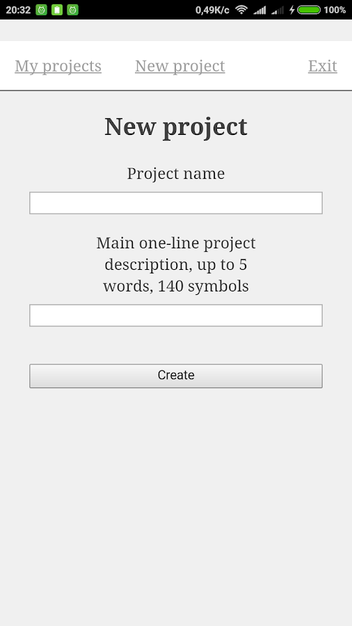 Specification generator- screenshot