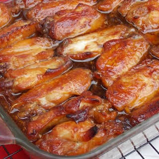 Caramelized Baked Chicken Wings and Legs.
