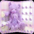 Lavender Teddy Bear Theme apk