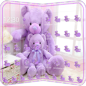 Lavender Theme teddy bear