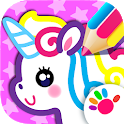 Kids Drawing Games for Girls!🎀 Apps for Toddlers! icon