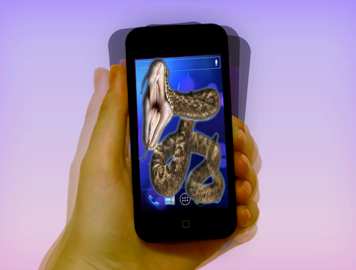 画面上のヘビ