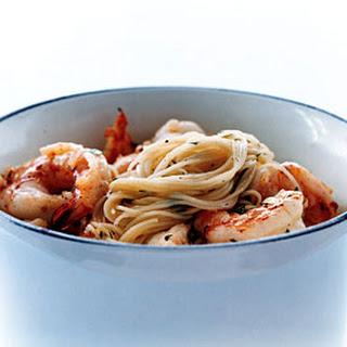 Shrimp Scampi Pasta.