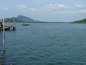 Photo: Ko Jum - view to northern biggest mountain of island (good for navigation where is north) from southern village/Baan Ko Jum