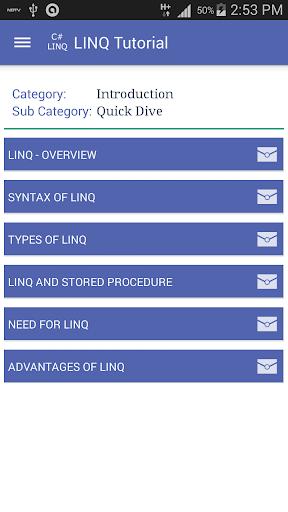 C LINQ Tutorials