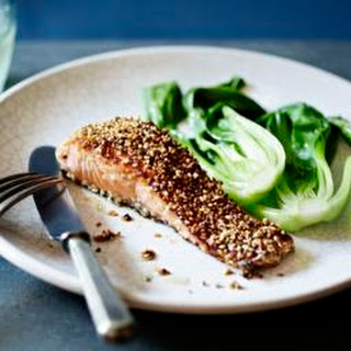 Sesame Seed Salmon With Mirin.