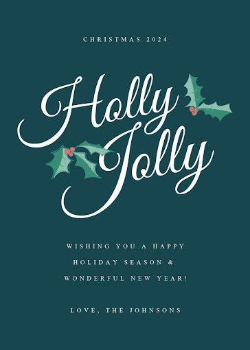 Holly Jolly Christmas - Christmas Card Template