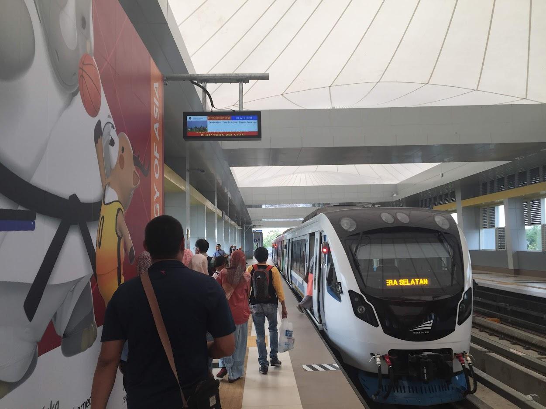 LRT dari Bandara Palembang
