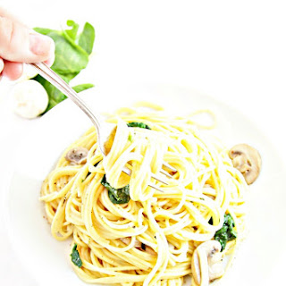 Creamy Spinach and Mushroom Pasta Recipe