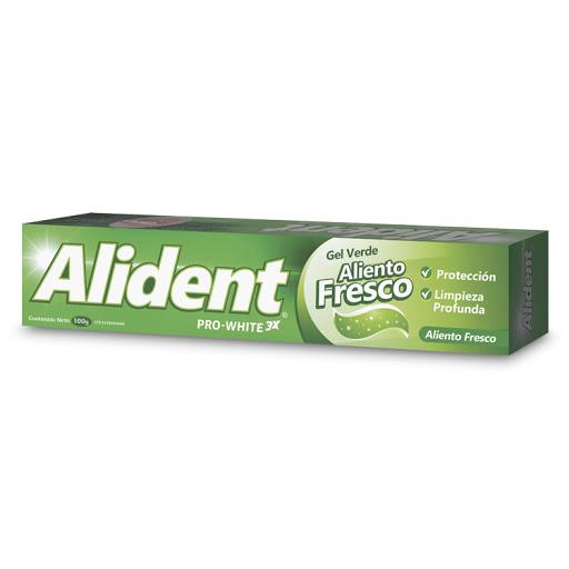 crema dental importada alident gel verde aliento fresco 100 gr
