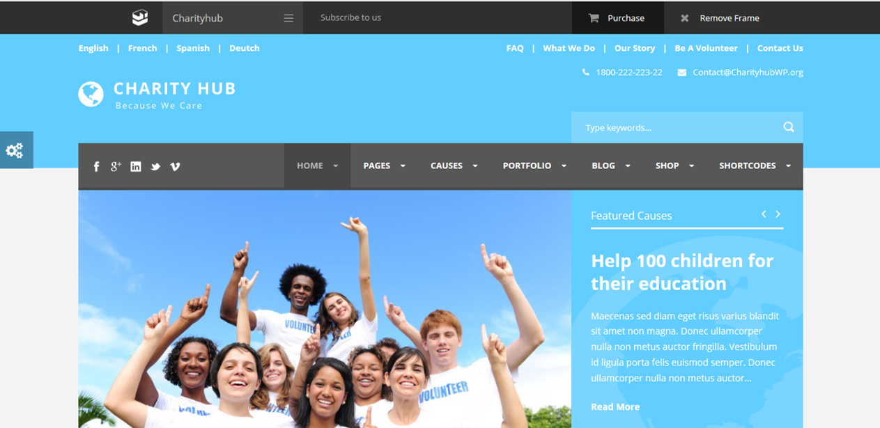 WordPress Themes Charity