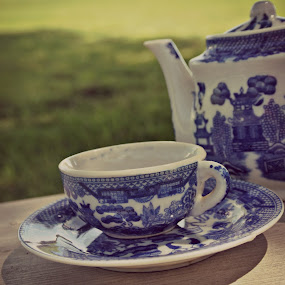 Tea cup-Glee by Gina Gilsdorf - Artistic Objects Cups, Plates & Utensils ( pwccups )
