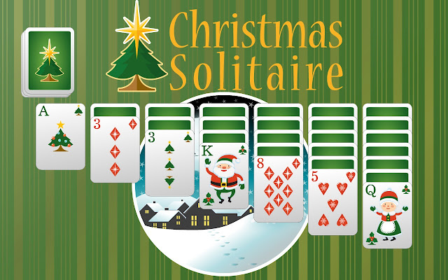 christmas solitaire is a collection of free online christmas themed solitaire card games from the guy rick who created - Christmas Card Games