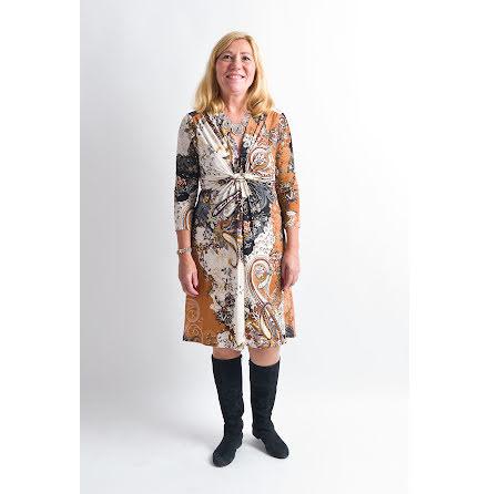 Ilse Jacobsen knee lenght dress brown black Soul07AG