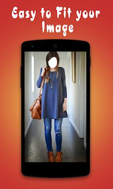 ジーンズで美しい女の子:ジーンズアプリ写真エディタのおすすめ画像4