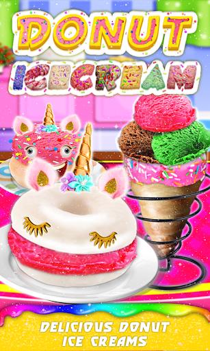 Donut Ice cream Cone & Unicorn Ice Cream Sandwich 1.0.5 screenshots 1