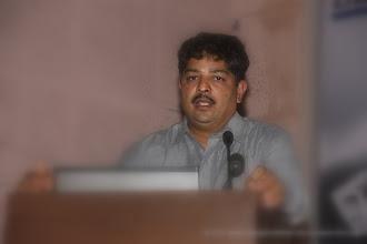 """Photo: Shri. Narendra Khot, presented ArthaKranti Proposal. Change for Better Release Function November 13, 2011. Shri. Suresh Prabhu, former Union Minister released """"Change for Better"""" at HMCT Auditorium, Pune"""