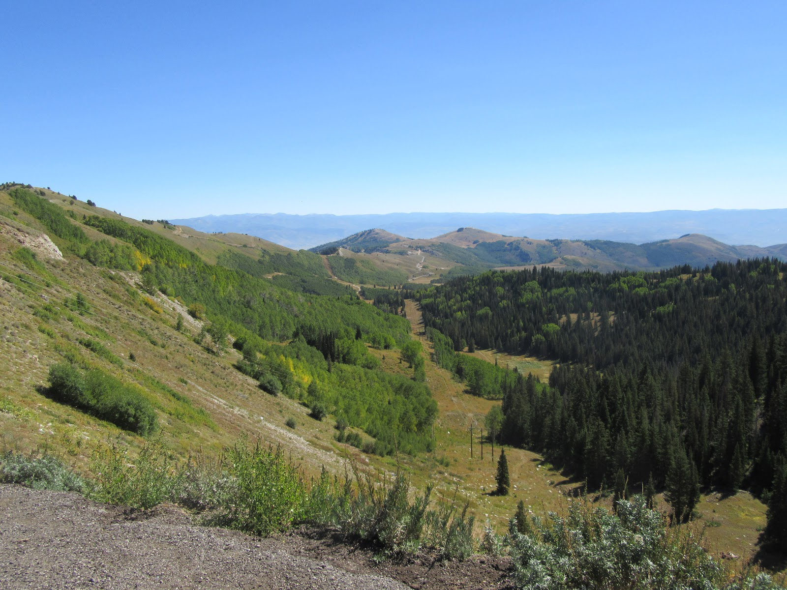 Cycling to top of Big Cottonwood Canyon - Guardsmand Pass - view from the top.