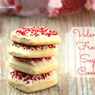 Valentine Frosted Sugar Cookies.