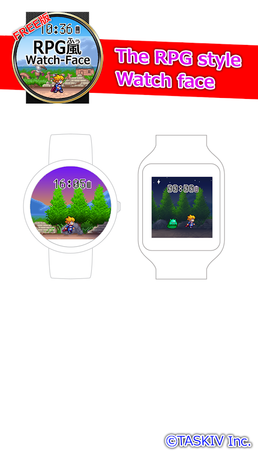 The RPG style Watch face- screenshot