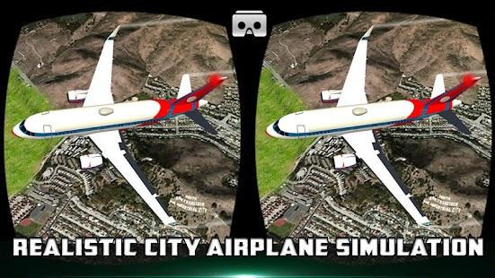 Vr město létání letoun simulátor