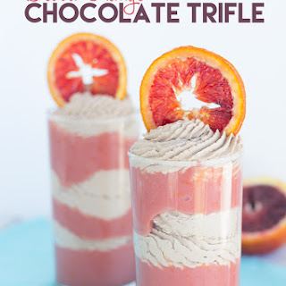 Blood Orange Chocolate Trifles