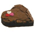 Brownie namorados com mini corações coloridos de açúcar