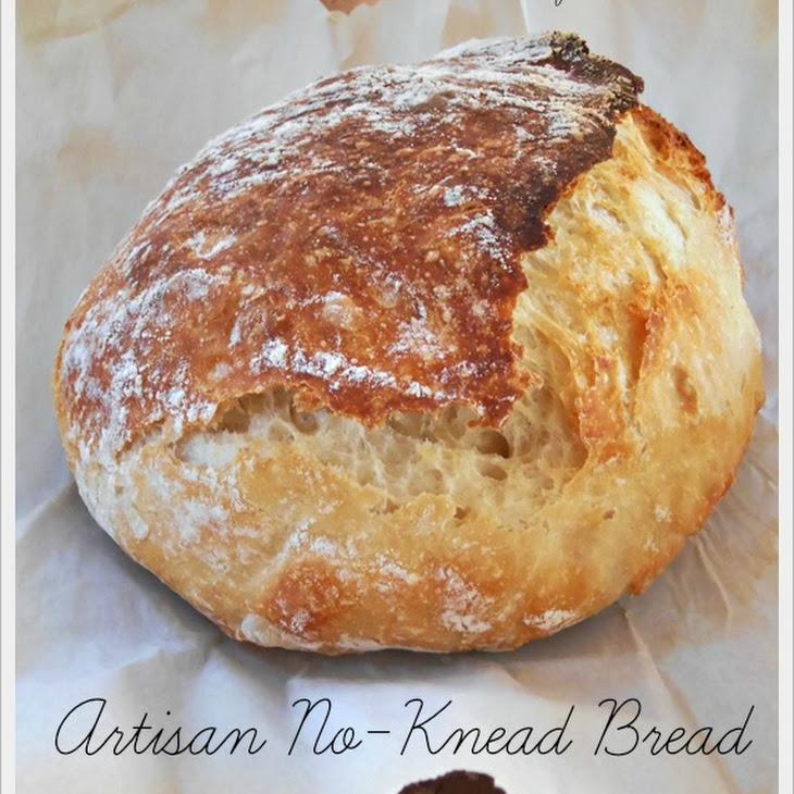 Artisan No-Knead Bread Recipe