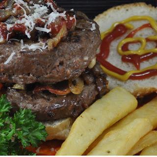 Sriracha Burgers W/ Peppers & Asiago Cheese Recipe
