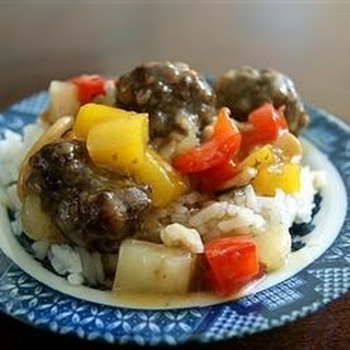 Sweet And Sour Meatballs With Pineapple And Green Pepper Recipes