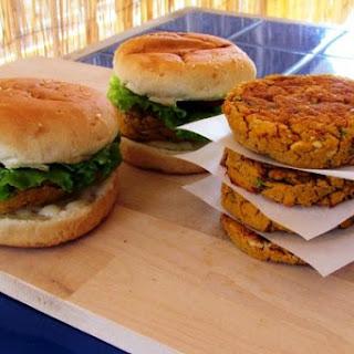 White Bean and Sweet Potato Burgers [Vegan].