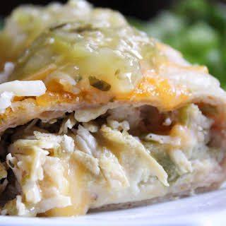 Green Chile Chicken Enchiladas {Low Carb, THM-S}.