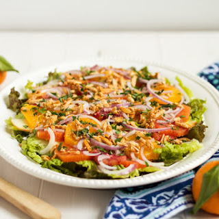 Red Leaf Lettuce Salad with Raspberry Citrus Vinaigrette Recipe