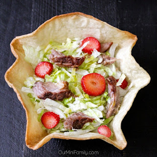 Carnitas & Strawberries Salad with a Chocolate Olive Oil Drizzle.