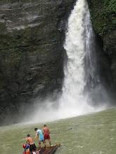 Photo: Путь к самому водопаду - на плотике