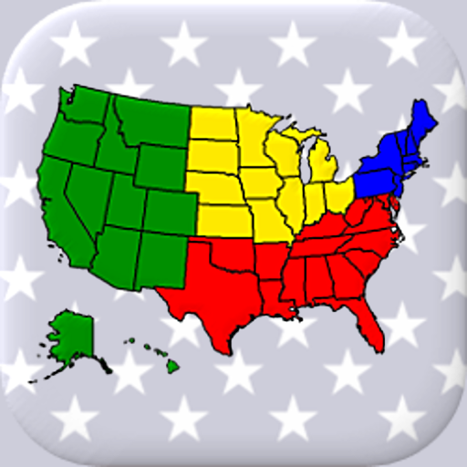 50 US States Map, Capitals & Flags - American Quiz - Apps on ...