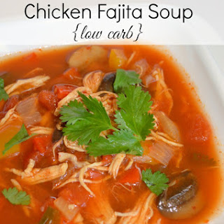Slow Cooker Chicken Fajita Soup {Low Carb Recipe}