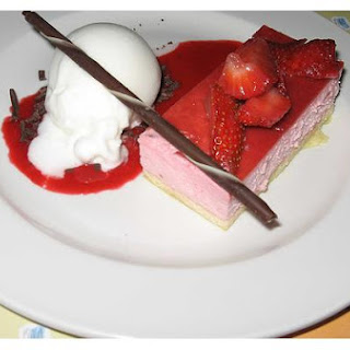 Lemon Strawberry Mousse Cake