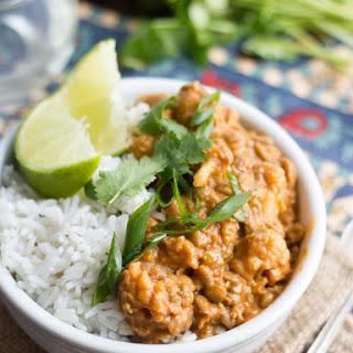 Red Curry Lentils & Cauliflower