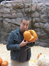 Photo: Dimitri with sad pumkin