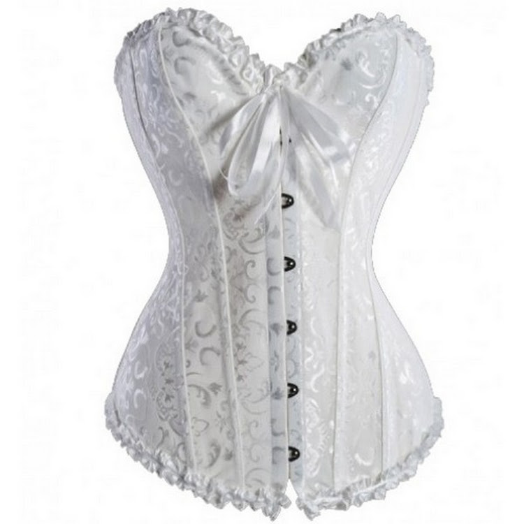 sweetheart satin corset WHITE- Bridal, casual, slimming corsets