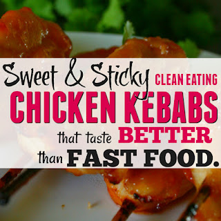 Clean Eating Sweet & Sour Orange Chicken Kebabs Recipe