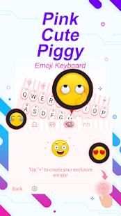 Pink Cute Piggy Theme&Emoji Keyboard - náhled