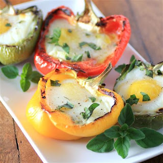 Grilled Peppers with Eggs #CanadianEggs.