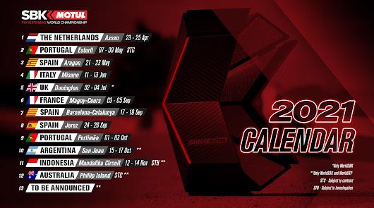 Publicado el calendario provisional del mundial de SuperBikes, WSBK