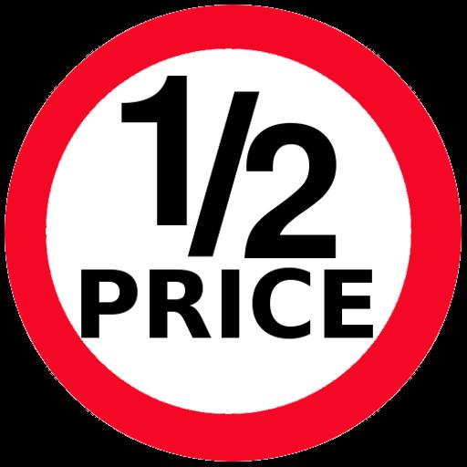 Half Price  Woolworths, Coles, Chemist Warehouse