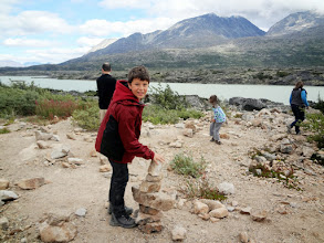 Photo: Building cairns in Tormented Valley