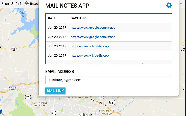 Mail Notes App